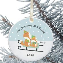 1st Christmas as a Mummy/Daddy Ceramic Keepsake Decoration - Fox Design